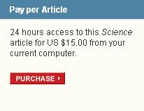 """Screenshot von der Website der Zeitschrift """"Science"""""""