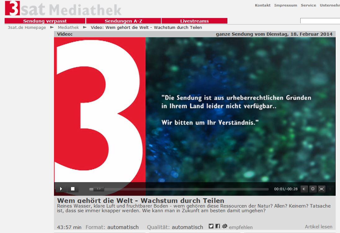 3sat mediathek sendung verpasst